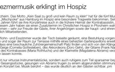 Klezmermusik im Hospiz