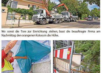 Bauarbeiten wegen Feuchtigkeitsschäden