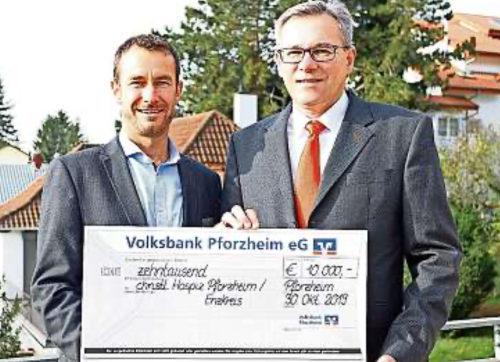 Spende der Volksbank Pforzheim