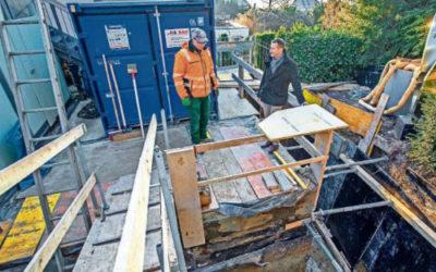 Die Sanierungsarbeiten verzögern sich