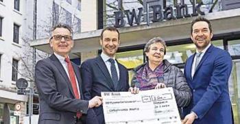 BW-Bank spendet 3.500 EUR