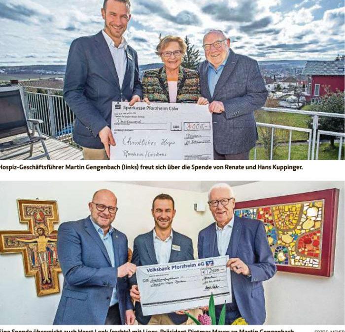 Zwei Spenden von 2 Jubilaren